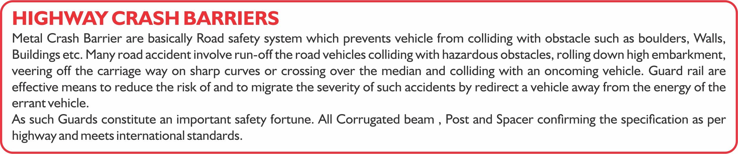 0 Highway Crash barriers